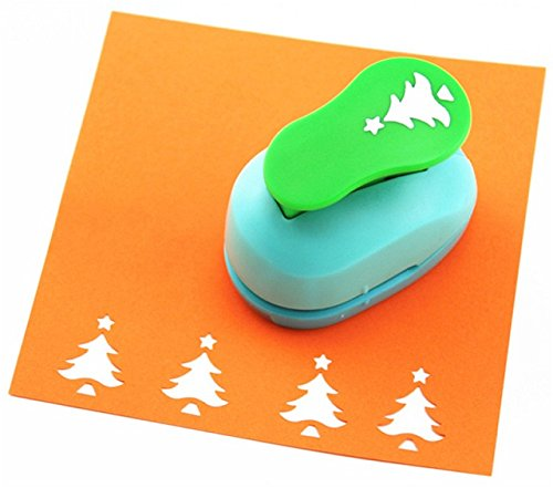 CADY Craft Punch 1-Inch Paper Punches,Paper Punch (Christmas Tree)