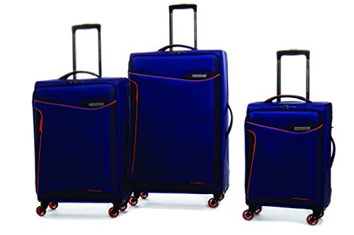 American Tourister 79554-4645 Whistler 3 Piece Nested Set, Vivid Blue/ Electric Orange,...