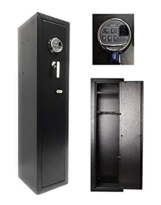 Southeastern Quick Access Biometric Rifle Safe Fingerprint Long Gun Safe for Home Rifles Shotguns Storage Security Cabinet