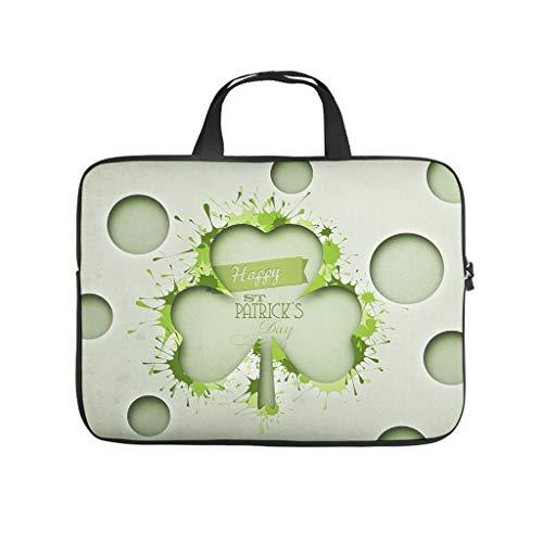 st Patricks Tag - Bolsa para ordenador portátil, antiestática, diseño estampado, para universidad, trabajo y negocios