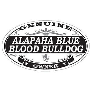 US Decal, Inc. Alapaha Blue Blood Bulldog Oval Magnet 3