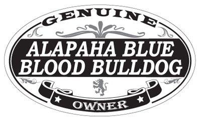 US Decal, Inc. Alapaha Blue Blood Bulldog Oval Magnet 1