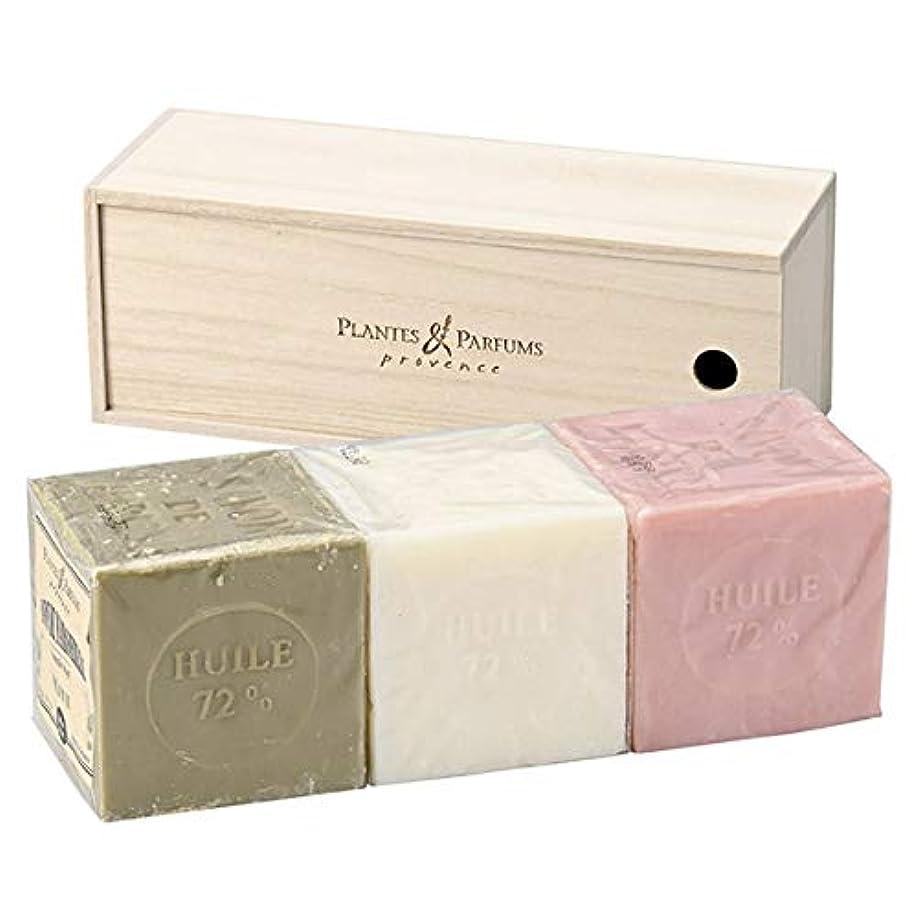 理想的には多様な今Plantes&Parfums [プランツ&パルファム] マルセイユソープ400gセット[木箱] O&N&R