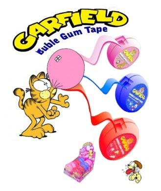 Amazon.com : Kidsmania Garfield Bubble Gum Tape, 2.05 Ounces 12 Count  Display Box : Grocery & Gourmet Food