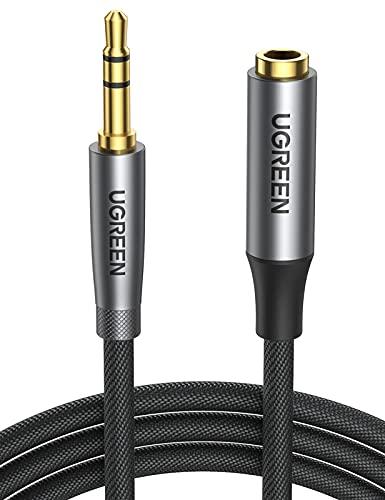 UGREEN Rallonge Jack Audio 3,5 mm Rallonge Casque Audio Jack Mâle vers Femelle Noir Câble Extension Audio Stéréo Compatible avec Écouteur Enceinte Smartphone (1M)