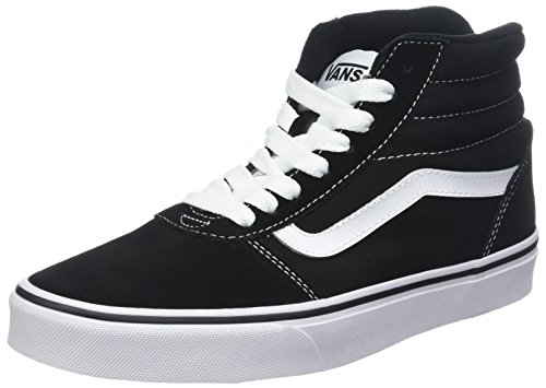 Vans Ward Hi Suede/Canvas, Sneaker a Collo Alto Uomo, Nero ((Suede/Canvas) Black/White C4R) 39 EU