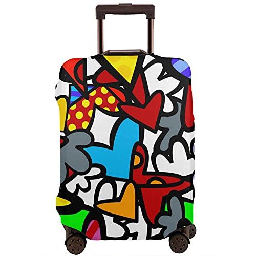 Kinsky Day Romero Britto - Protector de maleta de viaje para proteger tu equipaje del polvo y los arañazos, blanco, 95