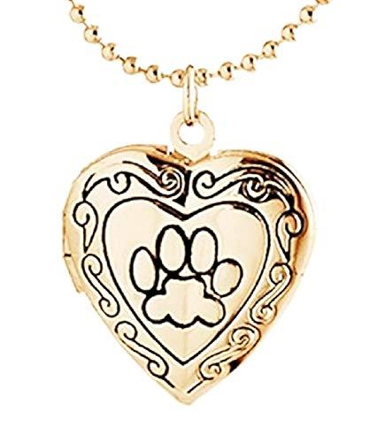 Vrouwelijke ketting - vrouw - vriendschap - hart - beste vriend - bff - hartje - opening - hanger - hond - poot - dier - kat - brons - origineel cadeau idee best friends