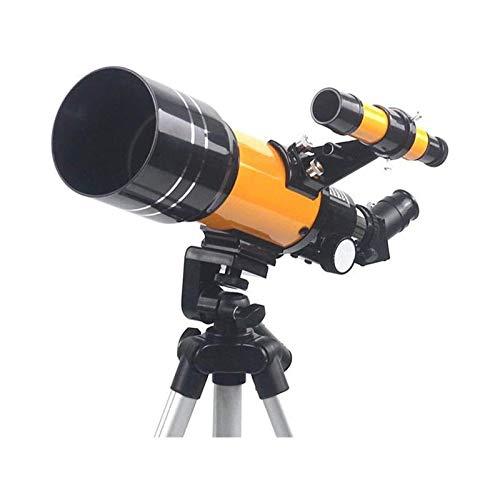 LYYJIAJU Telescopio Astronomico per Bambini Adulti Telescopio 70mm Apertura Rifractive Telescopio Riflettore telescopio per Principianti Treppiede di Altezza Regolabile