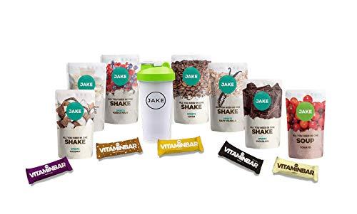 Starterbox Medium Sports │Vegan Meal Replacement Powder Shake, Vitamin Bar, Vegetable, Nutrient Rich, High Protein