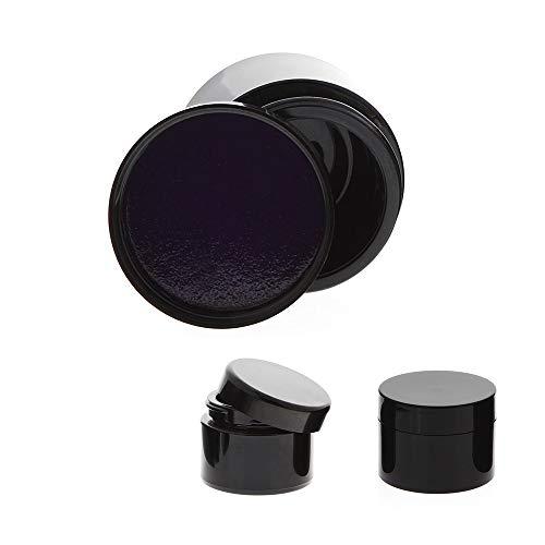 Mironglas Violett Tiegel 50 ml Energieeinlage im Deckel, Leere Kosmetex Miron Violett-Glas Creme-Dose, Kosmetikdose, 3 Stück