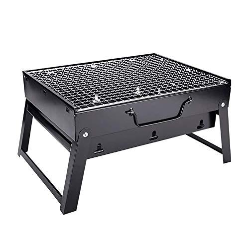 FMOGE Barbacoas De Carbón Mesa para Hogueras BBQ BBQ Hoguera Soporte Compacto Acero Inoxidable, Plegable