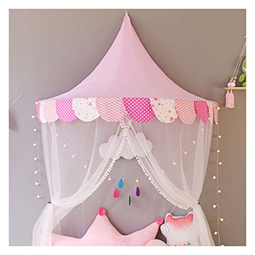 Kid Tent Kids Tent, Semi-circle Cotton Play Tent, Bedroom Bed Curtain Tent, Indoor Reading Corner, The, 2 Sizes (Color : Style 3, Size : 65x120x60cm)