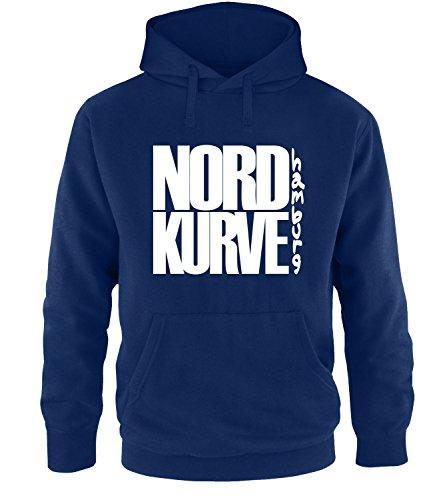 Luckja Nordkurve Hamburg Herren Hoodie, Navy / Bunt, M