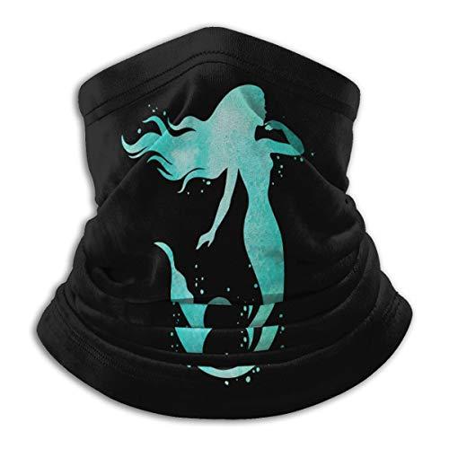 Face Mask Mermaid Silhouette Mouth Cover Balaclava Headwear for Dust Wind Sun Protection Neck Warmer Headband Mask