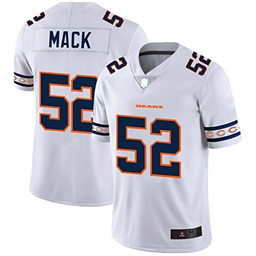 FADA Camiseta de fútbol Americano Chicago Bears, Camiseta de fútbol 52# Khalil Mack para Hombre, Sudadera, Transpirable, 100% poliéster-XXL