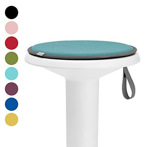 Interstuhl® UPis1 Premium Sitzkissen - Besonders bequemes Stuhlkissen perfekt geeignet für Hocker, Stühle, Bänke und Fußböden (Standard Edition, Pastelltürkis)