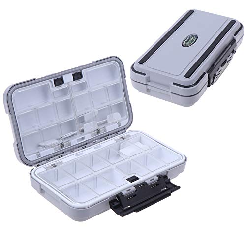 MeiMeiDa Waterproof Fishing Lure Box,Bait Storage Tackle Box Containers for Bait Casting Fishing Fly Fishing,Large Medium Lure Case Available (M)