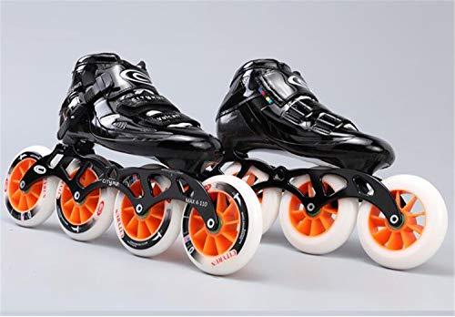 LNYF-OV Skates Inline Carbon Fiber Straight Row Wheel Adult Men and Women Speed Skating Shoes Children Professional Single Row Speed Skating Roller