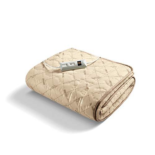 Imetec Relaxy Calientacamas Individual, Controlador con 2 Niveles Temperaturas, Tejido Acolchado, Lavable a Mano y en Lavadora a 40°, Sistema de Protección, 150 x 80 cm