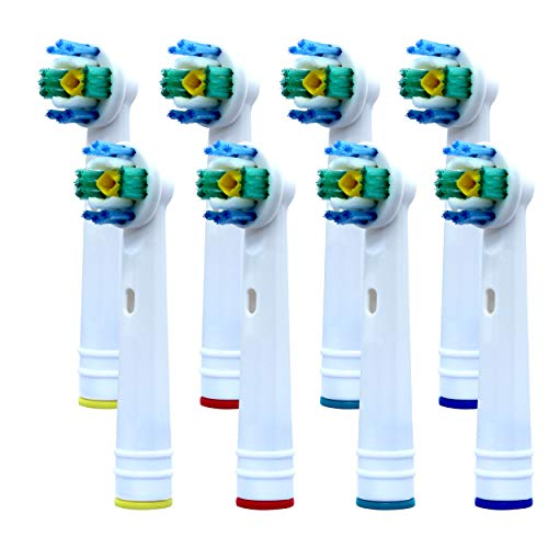 Replacement Toothbrush Heads for Oral B Toothbrushes, Pack of 8 - Electric Toothbrush Heads Compatible with Oral B 3D White - Electric Toothbrush Heads x 8 Toothbrush Heads