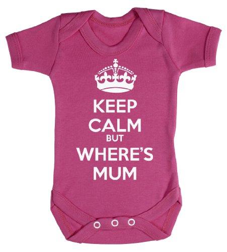 Baby Buddha - Keep Calm But Wheres Mum Bodys bébé 0-3 Mois Rose