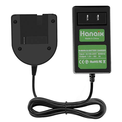 Hanaix New 1.2V-18V Ni-MH/Ni-CD Battery Charger Compatible with Porter Cable PC18B PCC489N PCMVC PCXMVC PC18B-2 Slide-in Style Batteries Porter Cable 18v Nicd Battery Charger