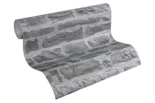 A.S. Création Vliestapete Best of Wood`n Stone 2nd Edition Tapete in Stein Optik fotorealistische Steintapete Naturstein 10,05 m x 0,53 m blau grau Made in Germany 319442 31944-2
