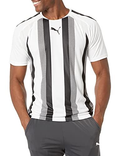 PUMA Teamliga Striped Jersey Camiseta, White Negro, XS para Hombre