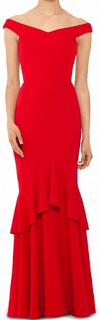 Betsy & Adam Women's Off-The-Shoulder Gown