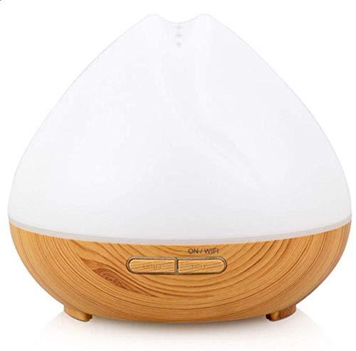 WiFi Smart Smart Essential Oil Difusor 400ML Aromaterapia ultrasónica Aromatería Fragra Vaporizador de Aceite Humidificador Temporizador y Interruptor de Seguridad de Auto-Off 7 LED Colores de lu