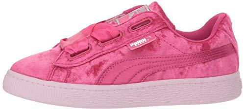 PUMA Kids' Basket Heart Patent Sneaker