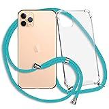 mtb more energy® Collar Smartphone para Apple iPhone 11 Pro MAX (6.5'') - Turquesa - Funda Protectora ponible - Carcasa Anti Shock con Cuerda