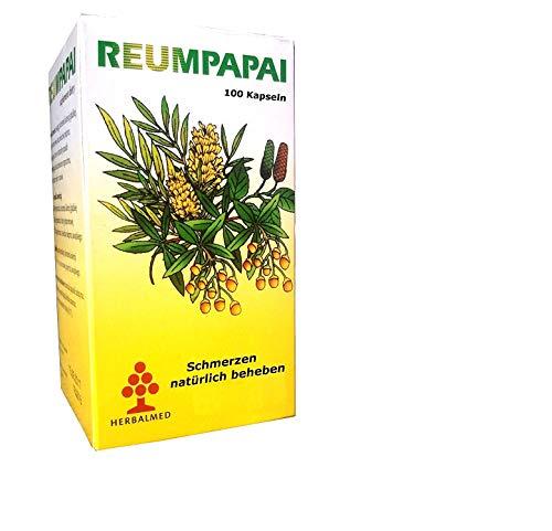 Schmerzkapseln Reumpapai, rein pflanzlich, 100 Kapseln, hemmen Entzündungen, beheben Schmerzen, Schwellungen, bei Rheuma, Arthrose, Gelenke, Muskelschmerzen, schmerztabletten entzündungshemmend