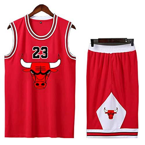 Abbigliamento da basket per bambini, felpa n. 23 di Chicago Bulls, set di gilet senza maniche per abbigliamento sportivo per studenti, tessuto 100% poliestere, t-shirt sportiva in mesh traspirante per