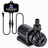 AQQA 800-3200GPH Controllable Water Pump,Circulation Make Wave/Feed Mode/20 Options Flow Adjustable Multifunction Submersible or External Powerful Return Pump for Saltwater & Freshwater Fish Tank