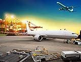 YULEXIN Puzzle 1000 Teile Wharf and Passenger Plane Sehr Herausforderndes Puzzle Für Erwachsene Und...
