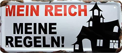Mon râpe, Mes règles Rahmenlos 1385 Plaque métallique décorative 28 x 12 cm