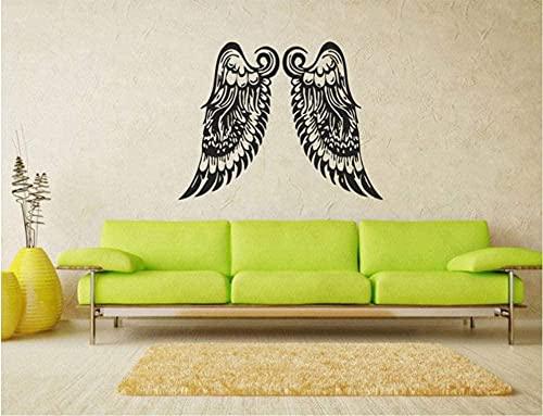 Vinilo adhesivo para pared, alas de ángel, diseño de alas grandes, 74 x 57 cm