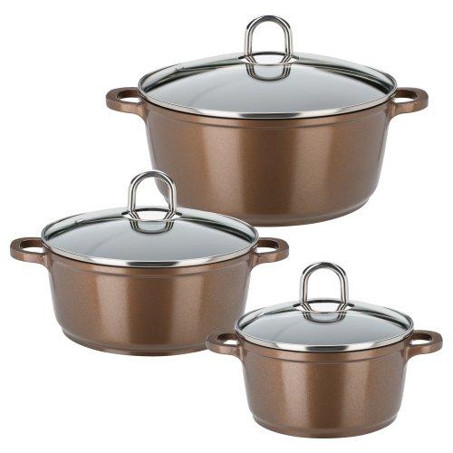 GSW 509008 Gourmet Premium Colour Lot de 3 ustensiles de Cuisine Bronze