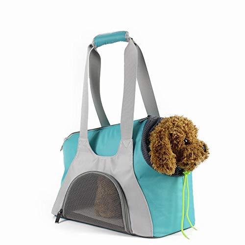 Scra AC Grüne Haustier Tasche Outdoor-Reise tragbare atmungsaktive Bequeme Oxford Tuch Hund Katze Handtasche Umhängetasche
