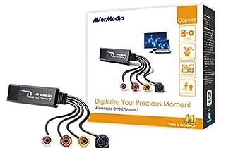 اسعار AVerMedia EZMaker 7, Standard Definition USB Video Capture Card , Analog to Digital Recorder, RCA Composite, VHS to DVD, S-Video, Cyberlink Media Suite Included, Win 10 / MAC (C039)