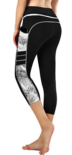 Zinmore Women's Capri Yoga Pants Exercise Running Workout Leggings with Pockets (X-Large, Capri Printed-68)