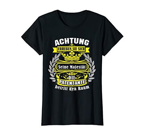 Damen Patentante Überraschung Taufpatin Lieblingstante Geschenk T-Shirt