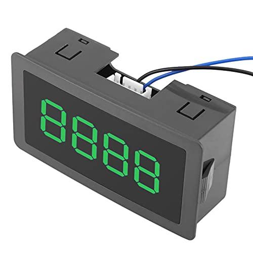 Panel de contador digital 4 dígitos 0-9999 pantalla LED DC8-24V arriba abajo más menos medidor práctica