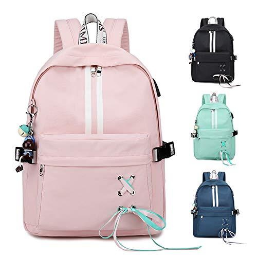 FEDUAN Campus Rucksack Daypack Schultasche Schulrucksack Studententasche Laptop-Rucksäcke mit USB/Kopfhörer Anschluss Tagesrucksack...