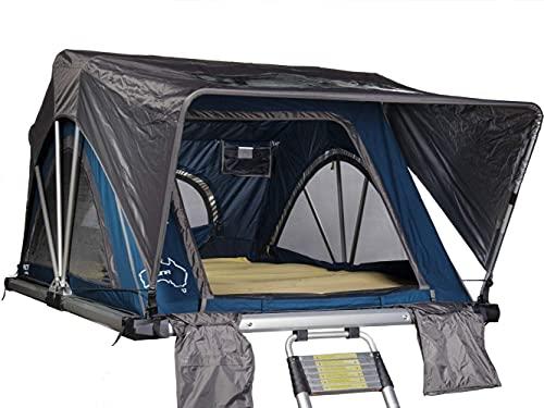 SHEEPIE® Yuna Auto Dachzelt - Autodachzelt - Leichtes Aluminium Dachzelt - Wasserdicht - Hoher UV-Schutz- Campingzelt - Campingausrüstung - Bungalowzelt - Camping und Outdoor (160)