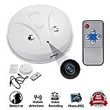 Ehind cámara seguridad WiFi detector de humo de cámara, hd 1080p, detección de movimiento activé...