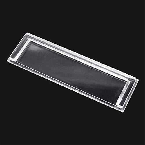 Cubierta de repuesto para placa identificación de buzón, transparente, tamaño perforaciones 89x25mm