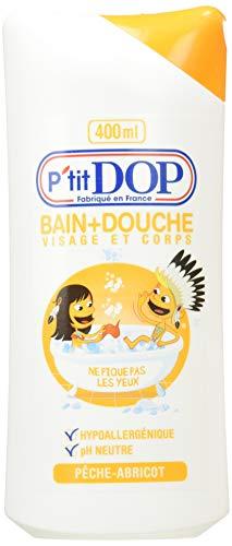 P'tit Dop Baño y Ducha Pesca - albaricoque Maxi Formato 400 ml - Lote de 2